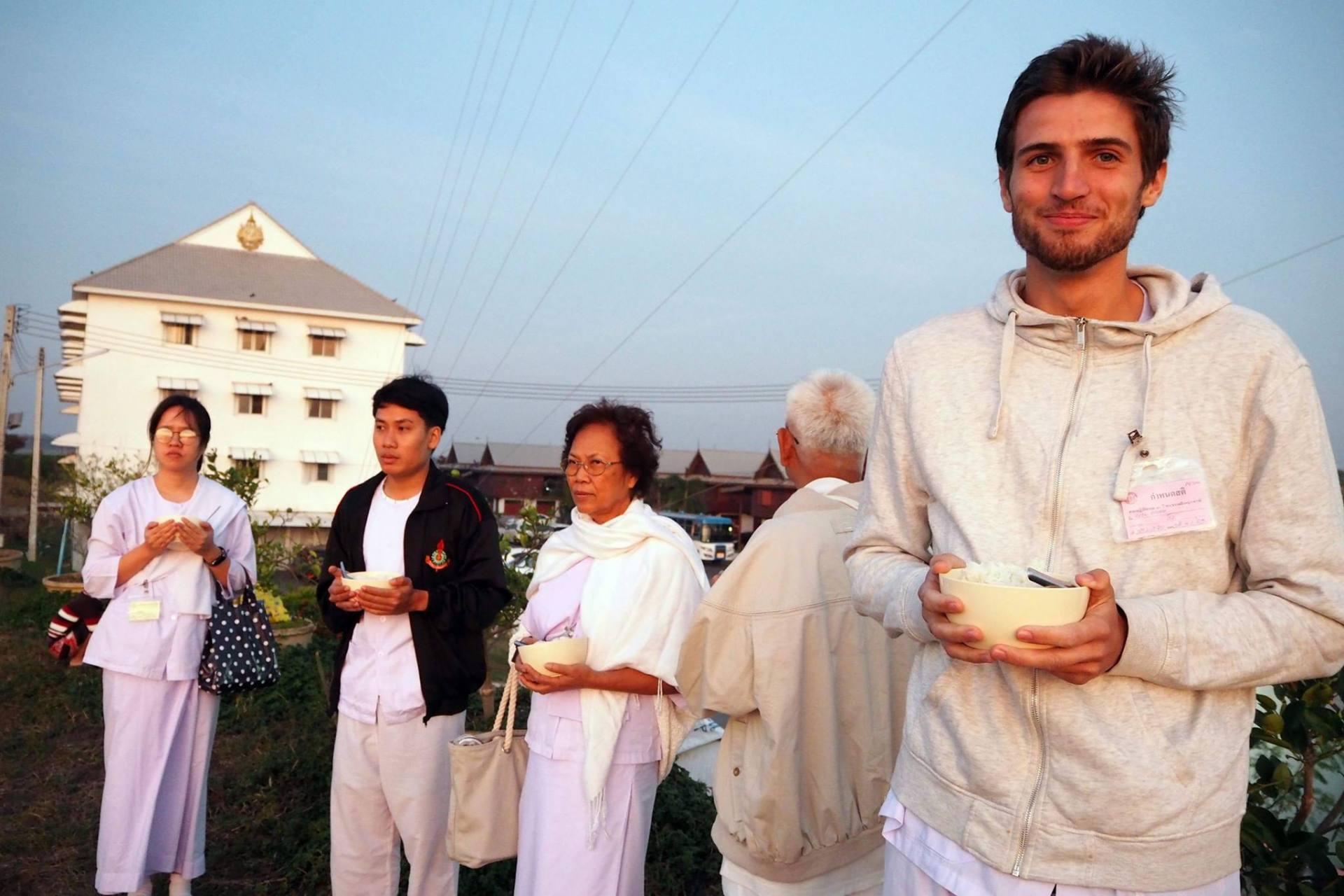 Thailand, Monks, Buddhism, Digital Nomad, Rice, European Monk, Western Monk