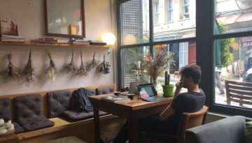 Working Coffee Freelancer