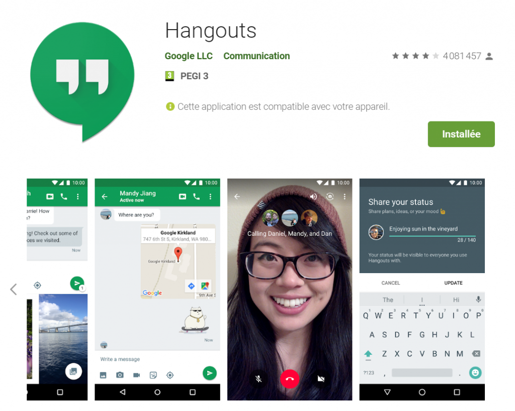 Comment installer Hangouts gratuitement ?