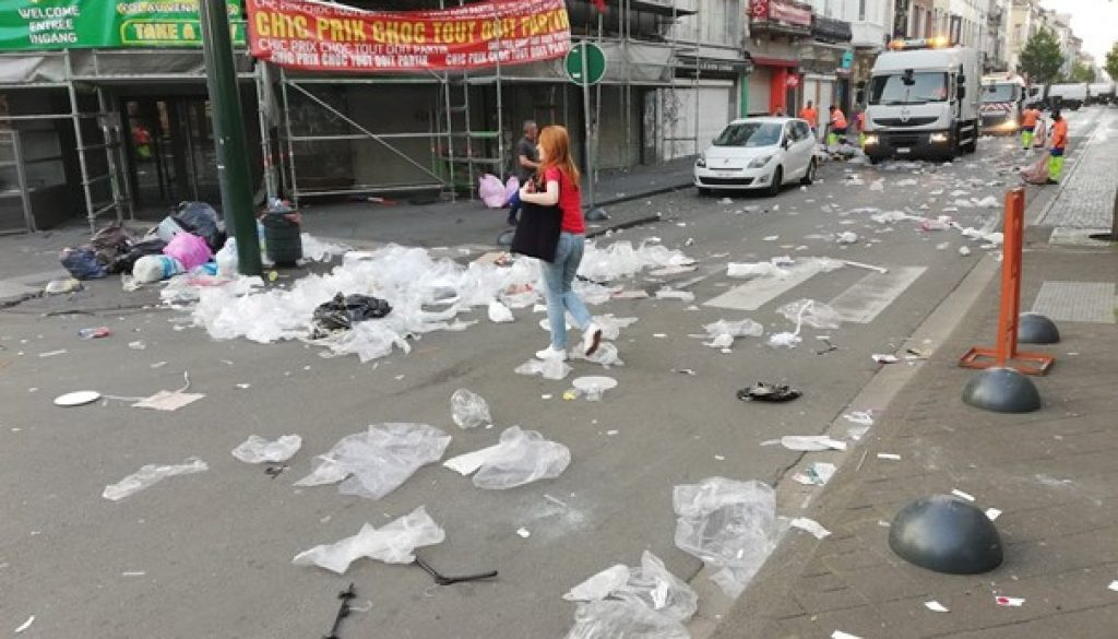 Pollution de plastique à Bruxelles